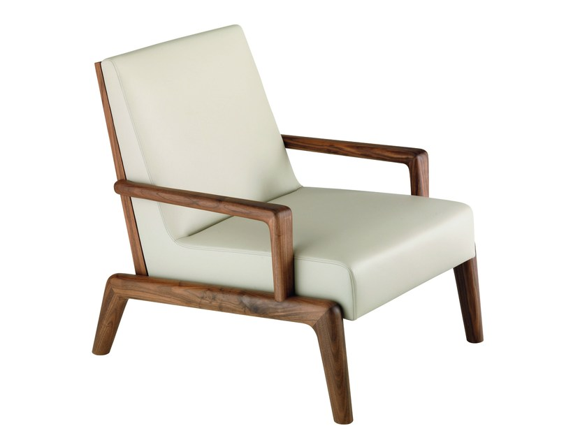 Upholstered fabric armchair with armrests AUGUSTE | Armchair by Treca Interiors