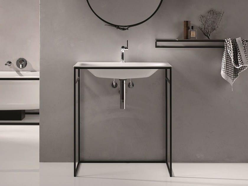 Rectangular single enamelled steel washbasin BETTELUX SHAPE | Washbasin by Bette