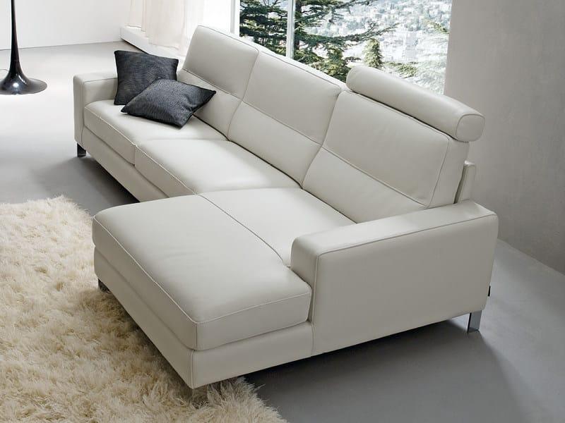 Sofa with chaise longue ALEX by Divanidea