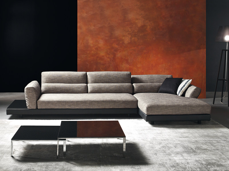 Recliner sofa with chaise longue COX by Divanidea