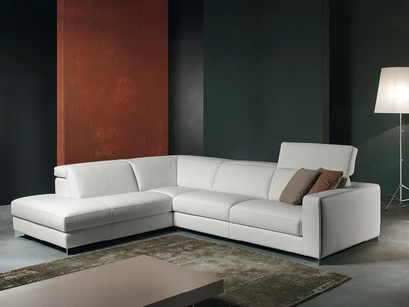Corner recliner sofa with electric motion PATIO by Divanidea