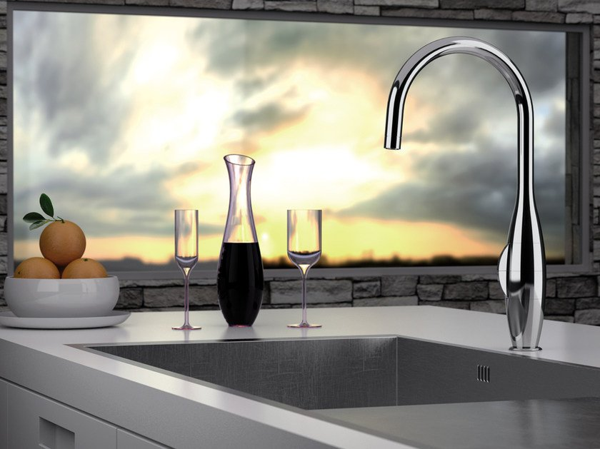 Countertop kitchen mixer tap with swivel spout BK 72 2 | Kitchen mixer tap by Remer Rubinetterie