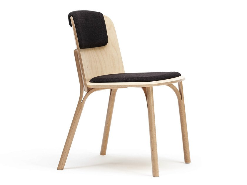 Upholstered wooden chair SPLIT | Upholstered chair by TON