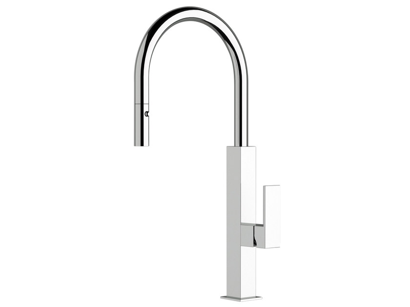 Kitchen mixer tap with pull out spray QK 73 | Kitchen mixer tap by Remer Rubinetterie