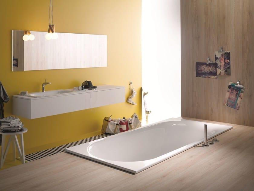 Vasche Da Bagno Smaltate Prezzi : Vasca da bagno rettangolare in acciaio smaltato bettecomodo