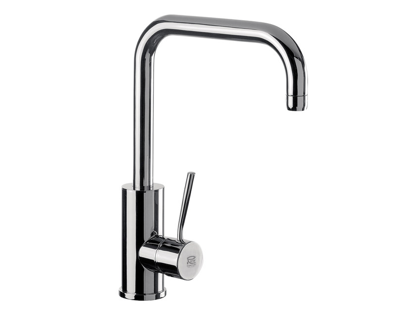 Chromed brass kitchen mixer tap with swivel spout N 72   Kitchen mixer tap by Remer Rubinetterie