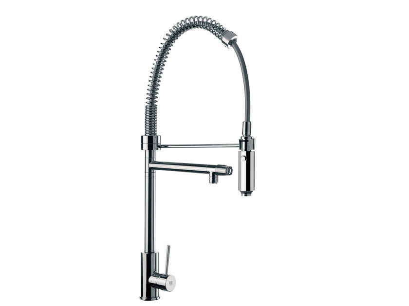Countertop 1 hole kitchen mixer tap with spray N 78 | Kitchen mixer tap by Remer Rubinetterie