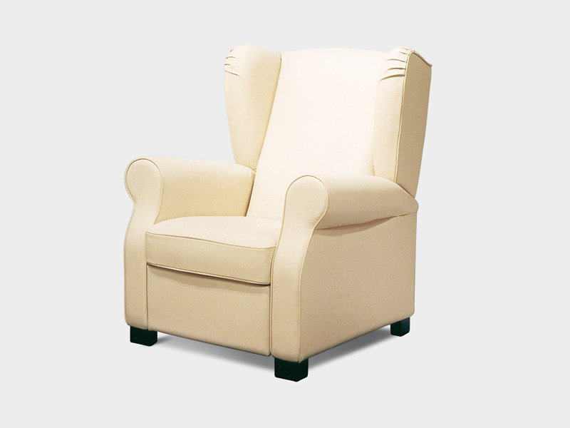 Upholstered armchair with armrests HARLEY by Divanidea