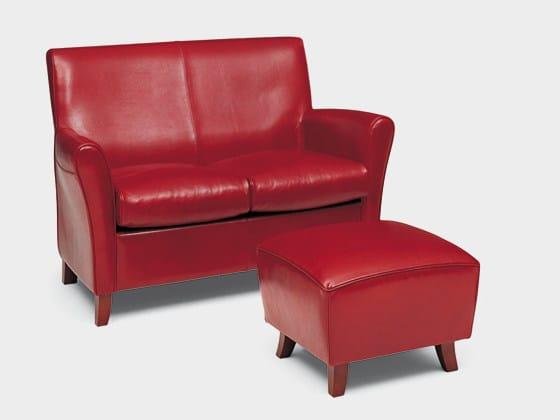 Leather small sofa RONALD by Divanidea