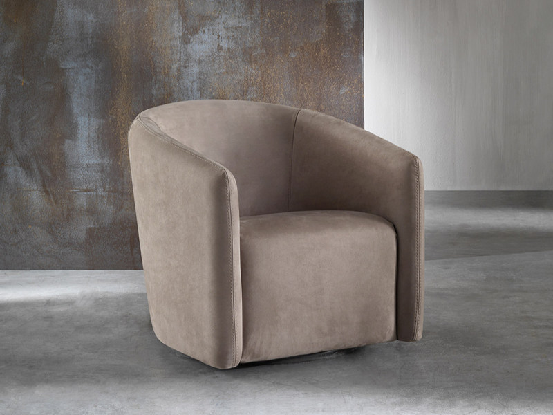 Upholstered easy chair with armrests GIPSY by Divanidea