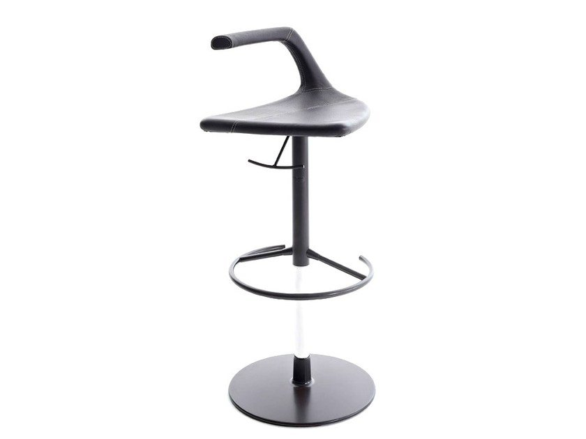 Swivel height-adjustable stool with footrest GEO by Colico