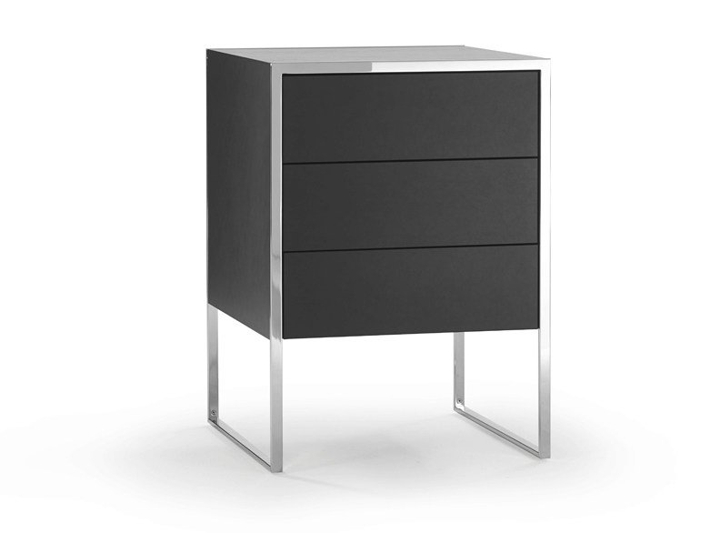 Rectangular bedside table with drawers SMART | Bedside table by YOMEI