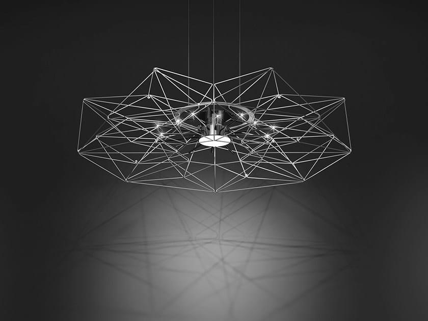 Metal Altatensione Sospensione Lux A Verniciato Led Metallo In Lampada BeCodx