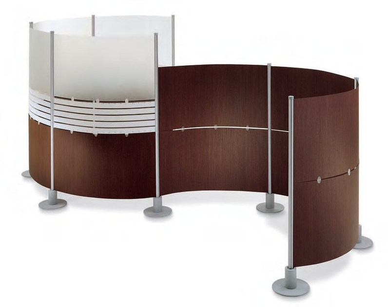 Free standing wood-PVC workstation screen SLALOM | Wood-PVC workstation screen by Slalom