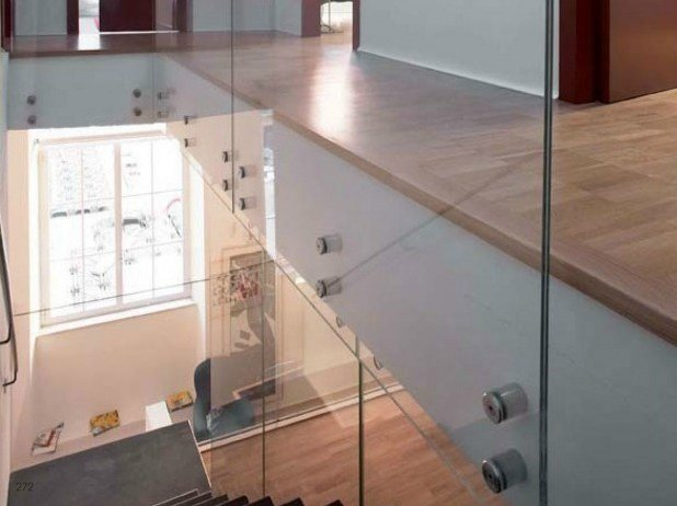 Stainless steel Balustrade fixing Point fittings by Metalglas Bonomi