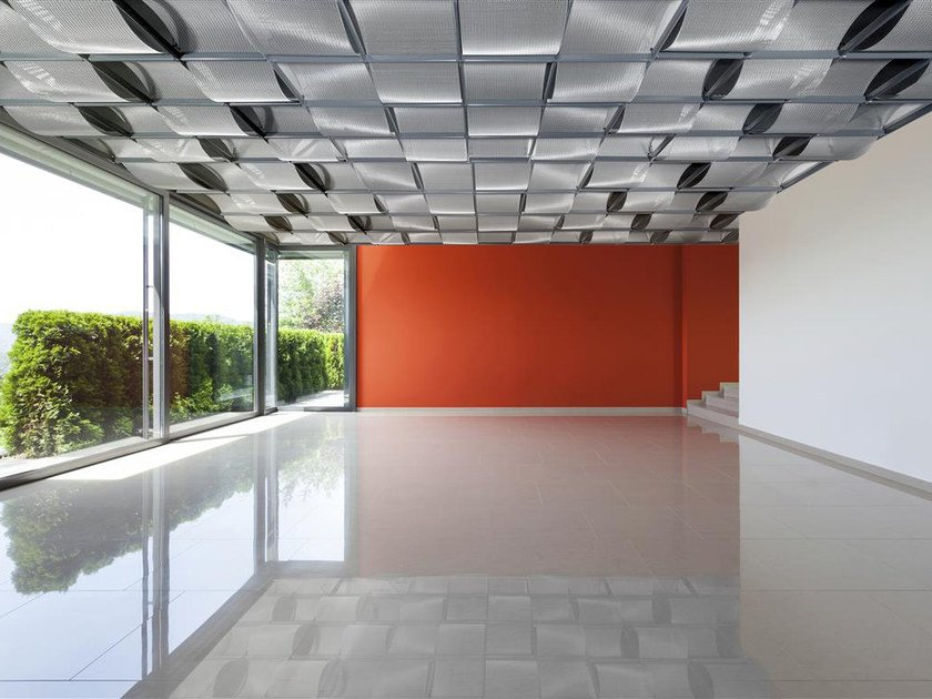 Ceiling tiles / Metal fabric and mesh ONDULA | Ceiling tiles by HAVER & BOECKER OHG
