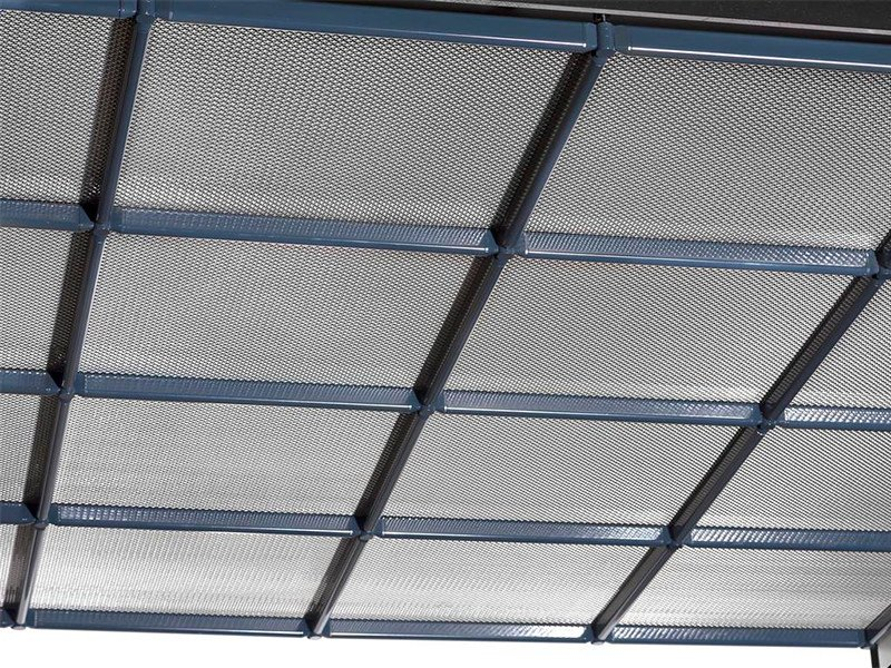 Ceiling tiles Metal fabric and mesh PLANO By HAVER & BOECKER OHG