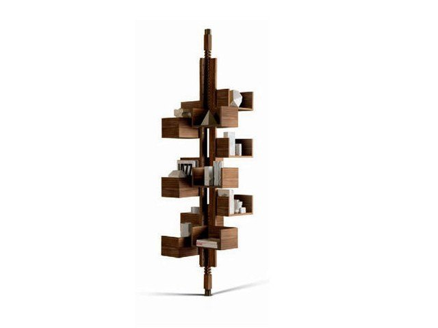 Swivel bookcase ALBERO by Poltrona Frau