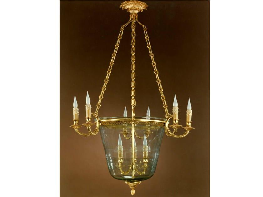 Bronze chandelier 30992 | Chandelier by Tisserant