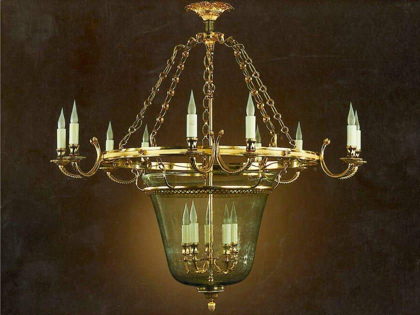 Bronze chandelier 30993 | Chandelier by Tisserant