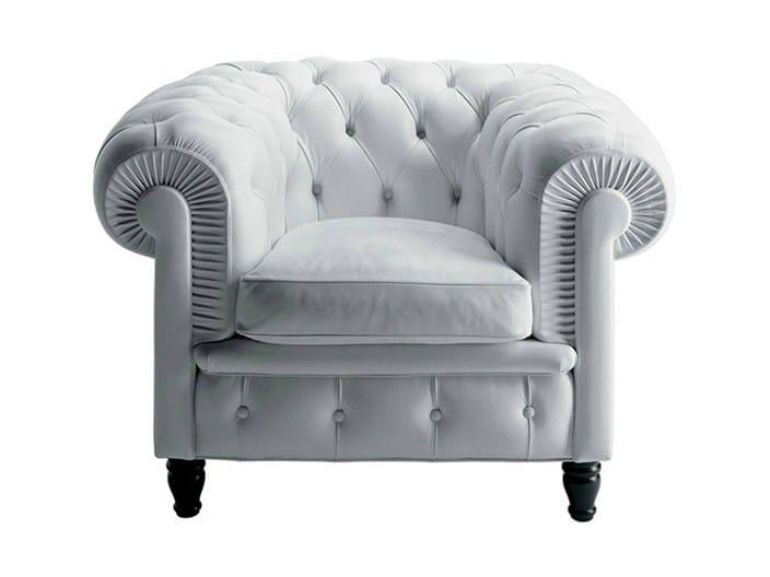 Tufted armchair CHESTER | Armchair by Poltrona Frau