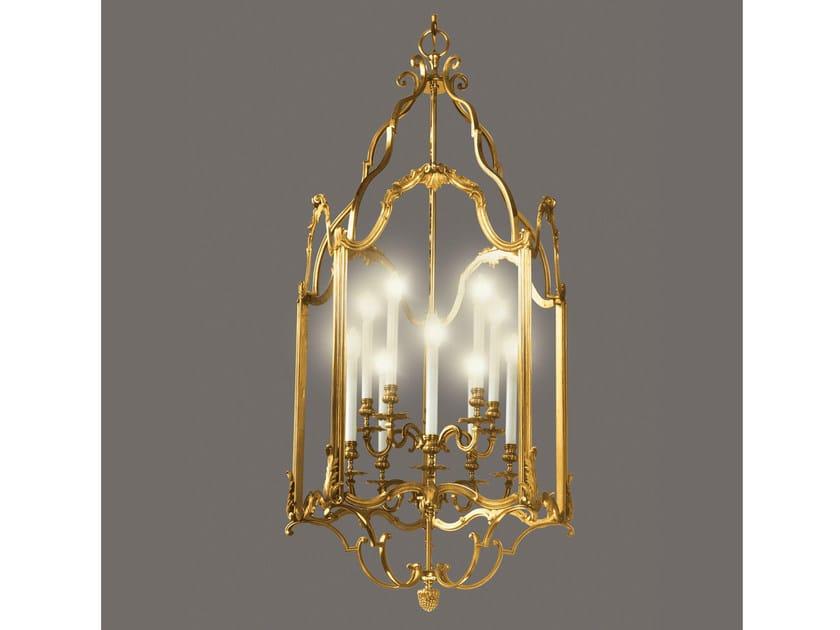 Bronze chandelier 34478 | Chandelier by Tisserant