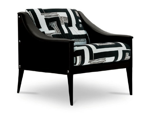 Fabric armchair with armrests DEZZA | Fabric armchair by Poltrona Frau