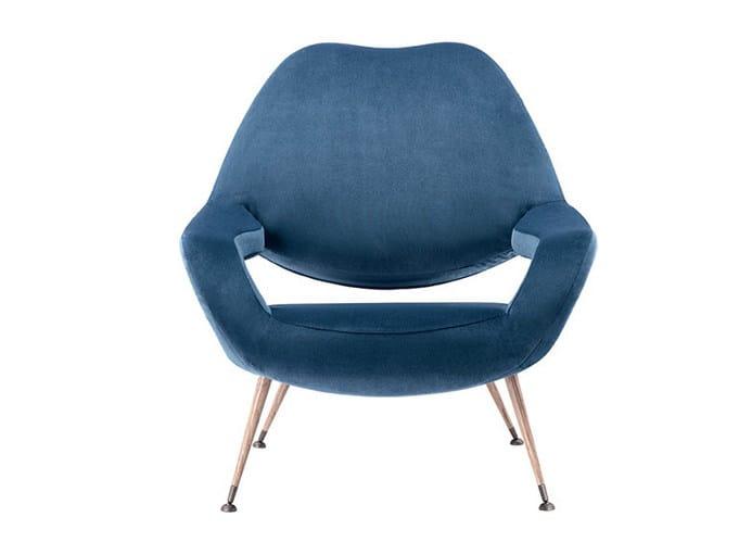 Fabric armchair with armrests DU 55 | Fabric armchair by Poltrona Frau