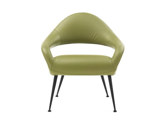 Easy chair with armrests LETIZIA | Easy chair by Poltrona Frau
