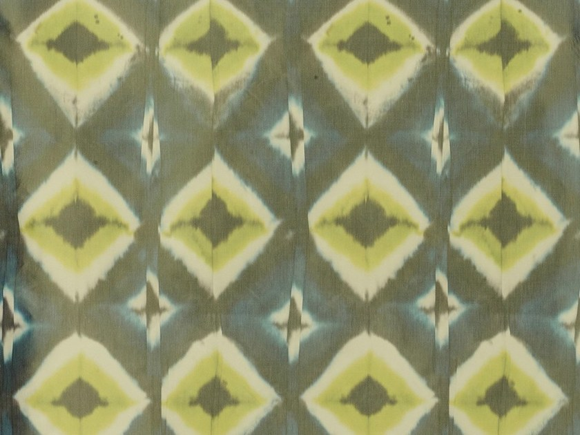 Taffeta fabric with graphic pattern for curtains HALLEY by Dedar