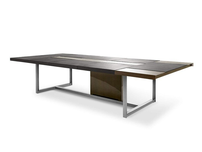 Rectangular meeting table JOBS | Meeting table by Poltrona Frau