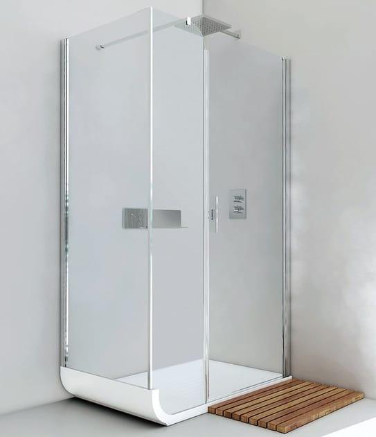 Box doccia angolare con porta a battente CURVE AN + F2 by RELAX
