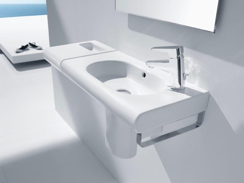 Wall-mounted washbasin NEW MERIDIAN COMPACT   Washbasin by ROCA SANITARIO