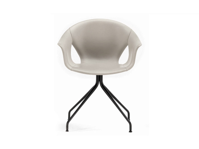 Poltrona Frau Ferrara.Ginger Ale Trestle Based Chair