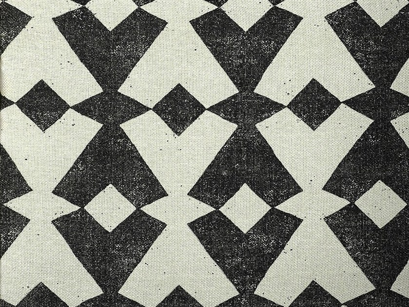 Silk fabric with graphic pattern for curtains TANGRAM by Dedar