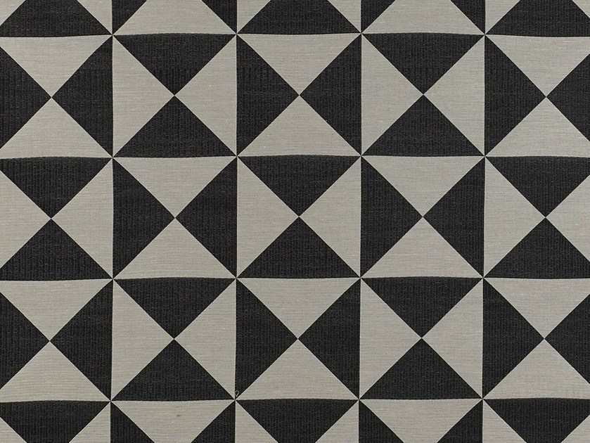 Synthetic fibre fabric with graphic pattern for curtains ON THE EDGE by Dedar