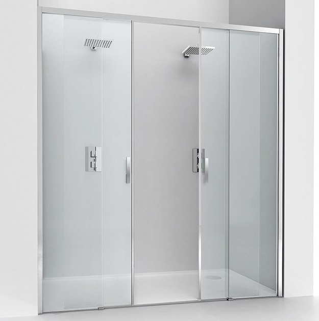 Niche crystal shower cabin with sliding door LIGHT SC2 by RELAX