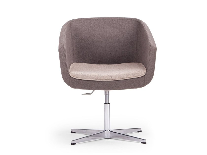 ARCA SMALL | Easy chair with 4-spoke base