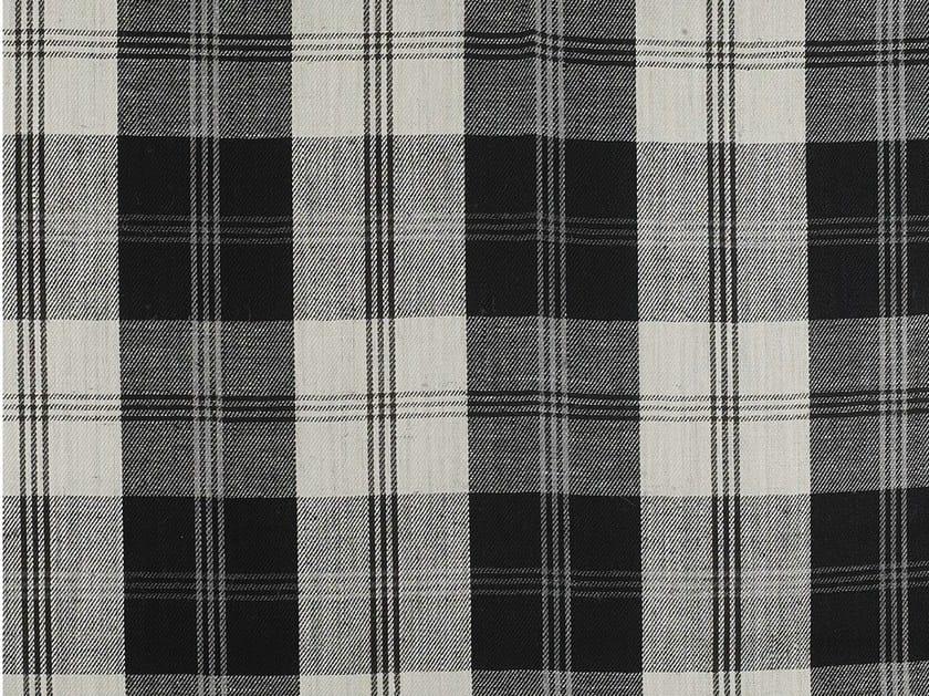 Tartan linen fabric PLAYFUL PLAID by Dedar