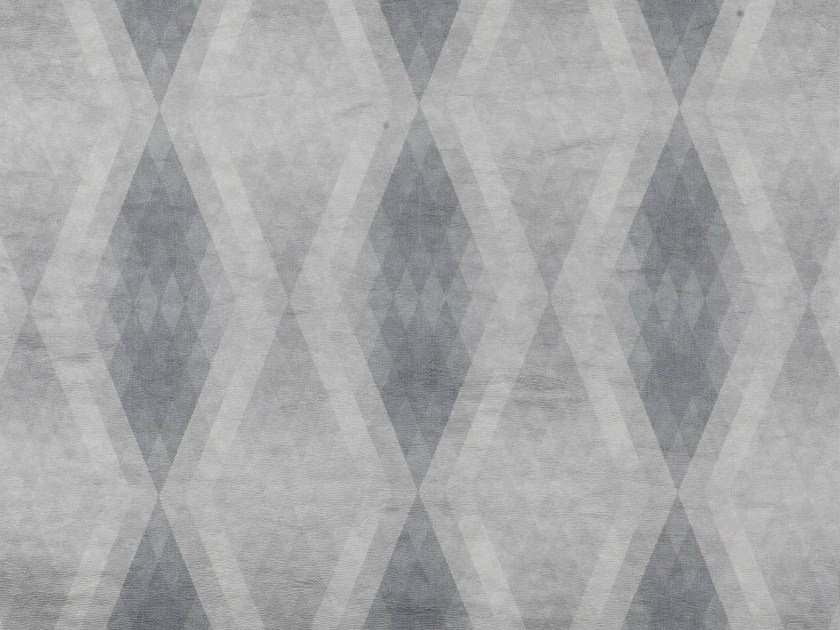 Printed cotton fabric with graphic pattern for curtains DEDAEDRO by Dedar