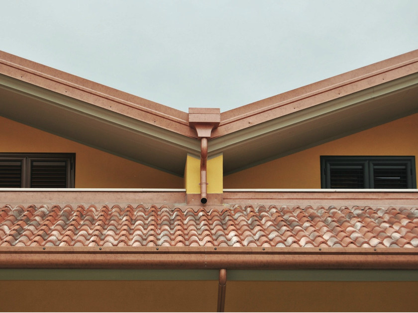 Gutter and downpipe YDORAL® by Elval Colour