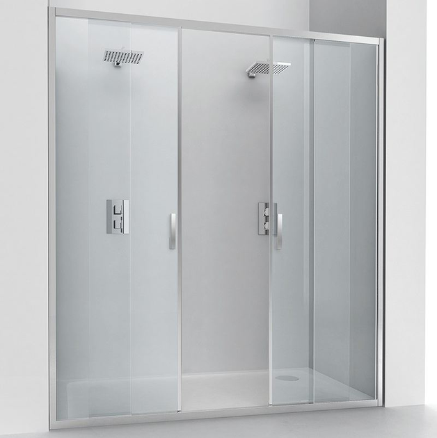 Niche crystal shower cabin with sliding door EVOLUTION SC2 by RELAX