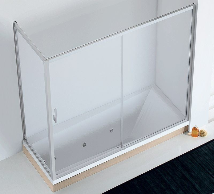 Crystal bathtub wall panel EVOLUTION SC1-V + F2-V by RELAX