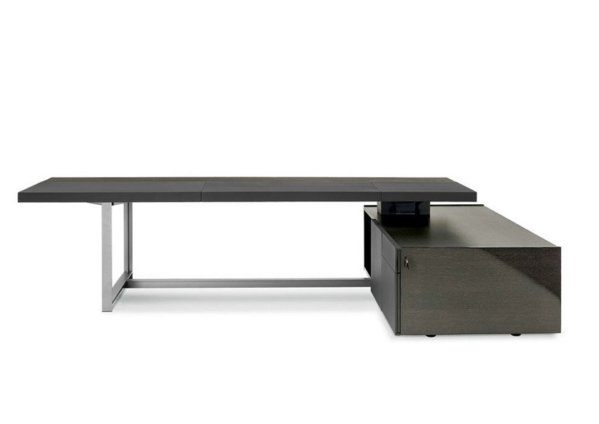 Executive desk with shelves JOBS | Executive desk by Poltrona Frau