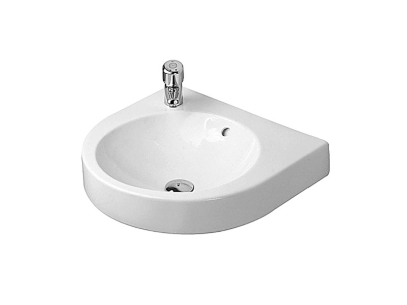 Round wall-mounted ceramic washbasin with overflow ARCHITEC | Wall-mounted washbasin by Duravit