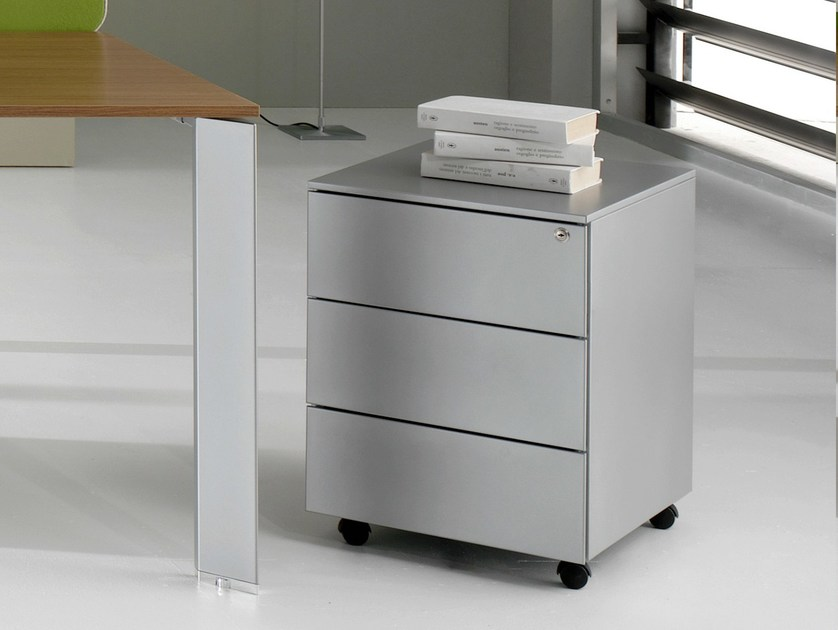 Plate office drawer unit with casters PRATIKO | Office drawer unit by IFT