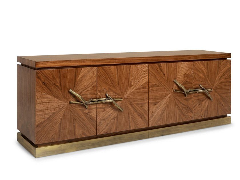 Walnut sideboard with doors WALNUT | Sideboard by Ginger & Jagger