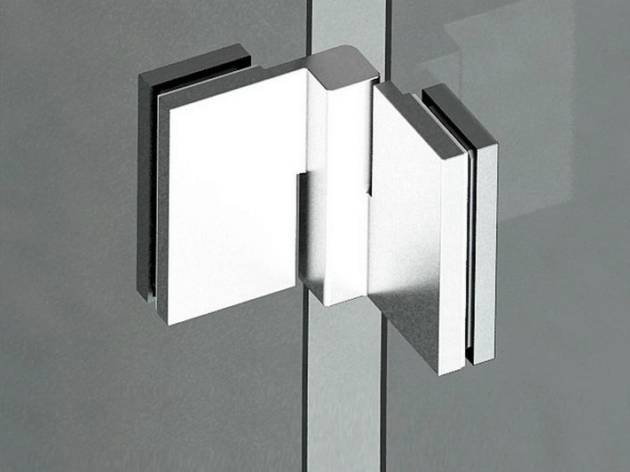 Glass door hinge B-502 DX - SX   Hinge by Metalglas Bonomi