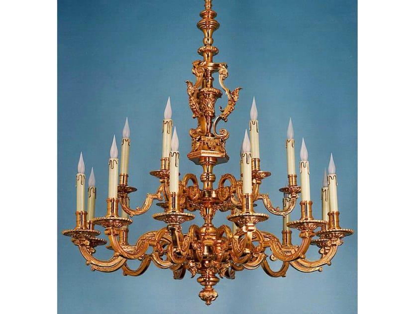 Bronze chandelier 14100 | Chandelier by Tisserant