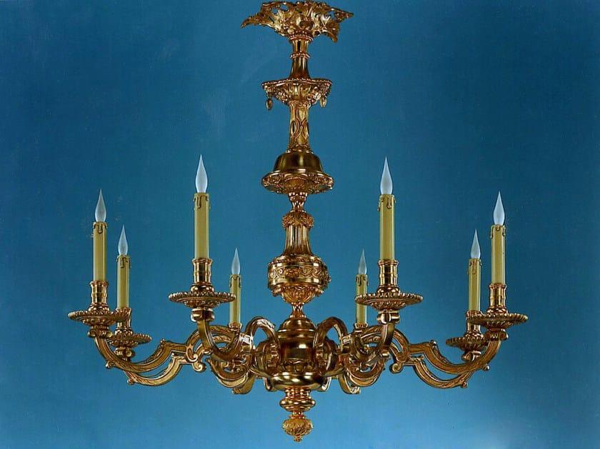 Bronze chandelier 14300 | Chandelier by Tisserant